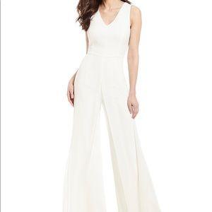 Antonio Melani Ide Chiffon jumpsuit white sz 0